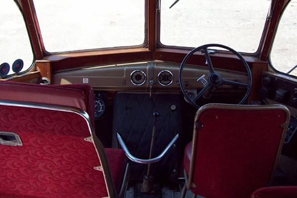 1949 Bedford 29 Seater Coach driver's view