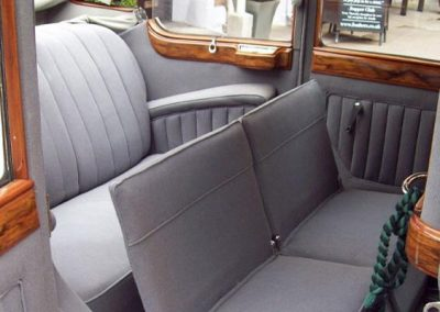 1936 Armstrong Siddeley rear seats opened up