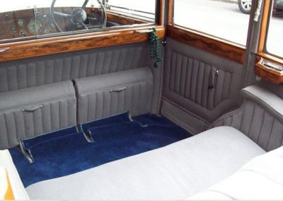 1936 Armstrong Siddeley rear seats folded up